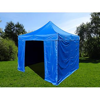 Vouwtent/Easy up tent FleXtents Easy up pavillon Basic v.2, 3x3m Blauw, inkl. 4 zijwanden