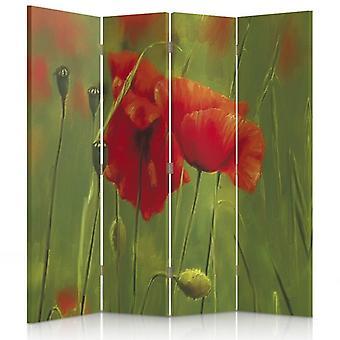 Room Divider, 4 Panels, Canvas, Poppy 2