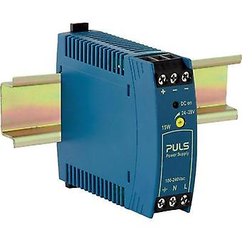 Rail mounted PSU (DIN) PULS MiniLine ML15.241 24 Vdc 0.63 A 15 W 1 x