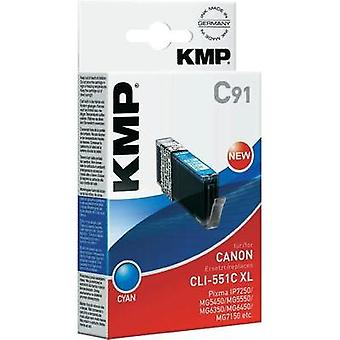 KMP Ink replaced Canon CLI-551C, CLI-551C XL Compatible Cyan C91 1519,0003