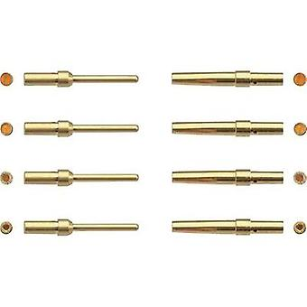 Connector receptacle AWG (min.): 24 AWG max.: 20 Gold plated Harting 09 67 000 8476 1 pc(s)
