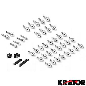 Motorcycle Spike Fairing Bolts Silver Spiked Kit For 2003-2007 Yamaha YZF R6