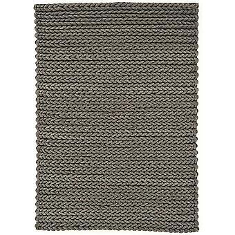 Santa Ana Grey Chunky Knitted Wool Rug
