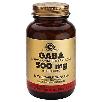 Solgar Gaba 500 mg 50 Vegetable Capsules (Vitamins & supplements , Multinutrients)