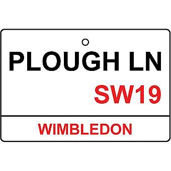 Old Wimbledon / Plough Lane Street Sign Car Air Freshener