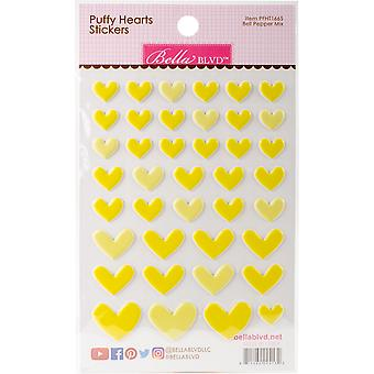 Puffy Heart Stickers -Bell Pepper Mix PFHT-1665