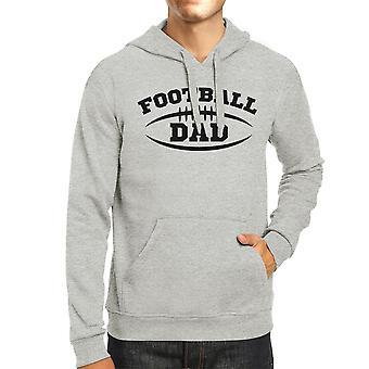 Football Dad Men's Grey Hoodie Funny Dad Hoodie For His Birthday