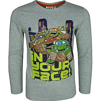 Nickelodeon мальчиков ниндзя черепахи длинным рукавом / Футболка