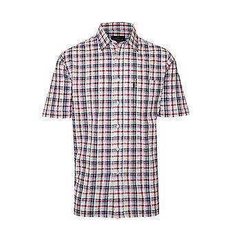 2 Pack Of Mens Country Style Casual Check Short Sleeved 100% Cotton Shirt 3042