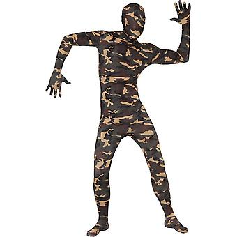 Secondo costume di pelle Stretchanzug i militari cammuffano