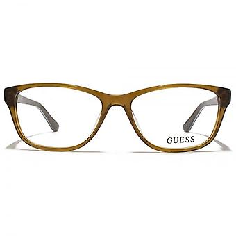 Guess GU2513 Glasses In Shiny Light Brown
