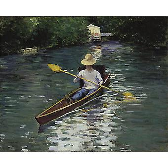 Gustave Caillebotte - In den Fluss Poster Print Giclee