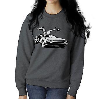 Delorean Back To The Future Women's Sweatshirt