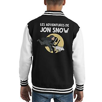 Les aventures De Jon Snow Tintin Game Of Varsity Jacket de Thrones Kid