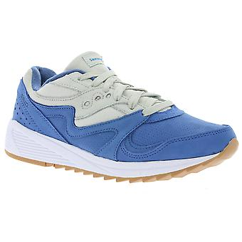 Saucony grid 8000 shoes men's genuine leather sneakers blue S70303-2