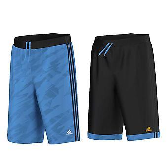 ADIDAS reversible GFX-Basketballshorts [Schwarz/Blau]