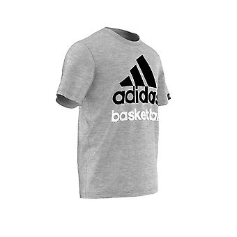 ADIDAS basketball logo t-shirt [grey]