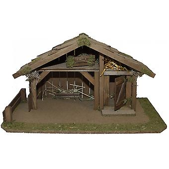 Crib Nativity scene wood Nativity stable ELIAS S hand work for characters up to 10 cm