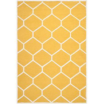 Lulu okker gul geometriske uld tæppe - Safavieh