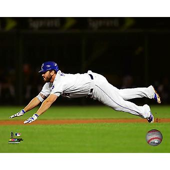 Mike Moustakas 2017 Action Photo Print