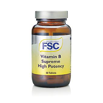 FSC Vitamin B Supreme Hi-Potency,  60 Tablets