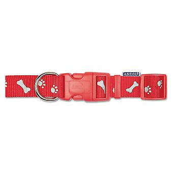 Ancol Pet Products Indulgence Adjustable Paw N Bone Dog Collar