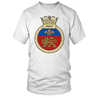 Royal Navy HMS Mersey Damen T Shirt