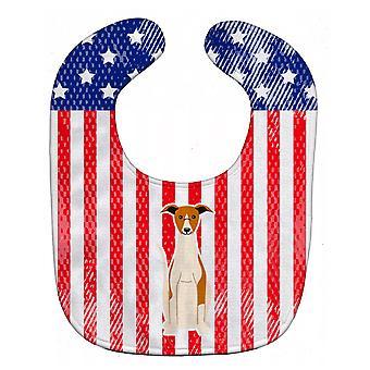 Carolines Treasures  BB3094BIB Patriotic USA Whippet Baby Bib
