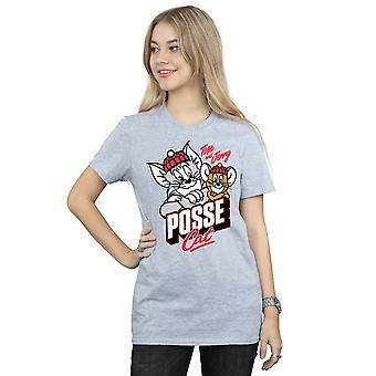 Tom And Jerry Women's Posse Cat Boyfriend Fit T-Shirt
