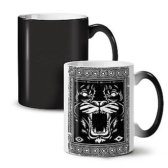 Face Beast Animal NEW Black Colour Changing Tea Coffee Ceramic Mug 11 oz | Wellcoda