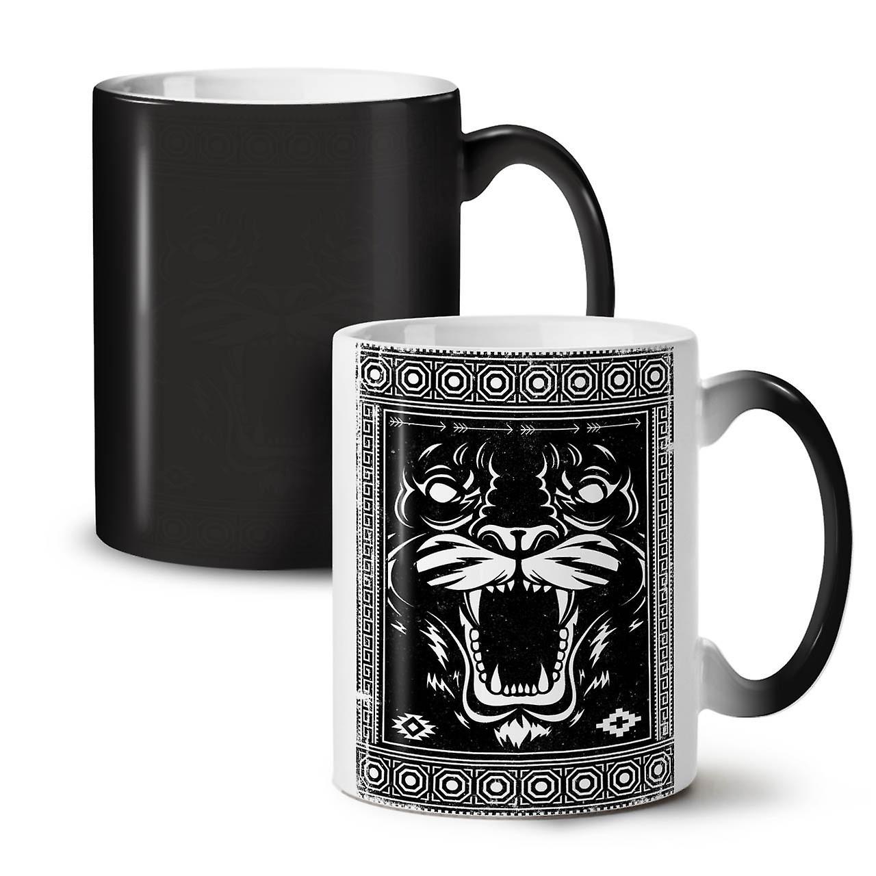 Face Beast Animal NEW Black Colour Changing Tea Coffee Ceramic Mug 11 oz | Wellcoda