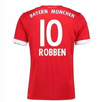2017-18 Bayern Munich Home Short Sleeve Shirt (Robben 10)