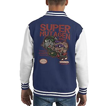Mutageno Super Bros Teenage Mutant Ninja Turtles Varsity Jacket di Super Mario Mix Kid