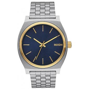 Nixon The Time Teller Watch - Gold/Blue Sunray/Silver