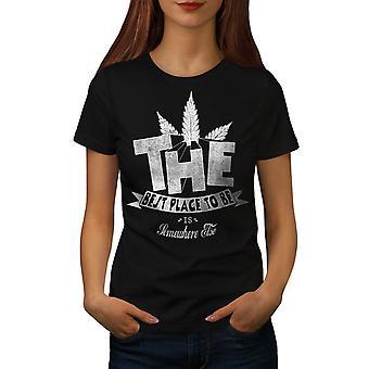Best Place Weed Pot Women BlackT-shirt | Wellcoda