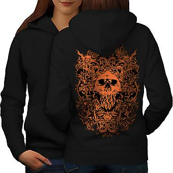 Death Ghost Horror Women BlackHoodie Back | Wellcoda