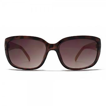 French Connection Classic Rectangle Sunglasses In Tortoise On Coral