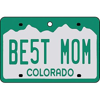 Colorado - Best Mom License Plate Car Air Freshener