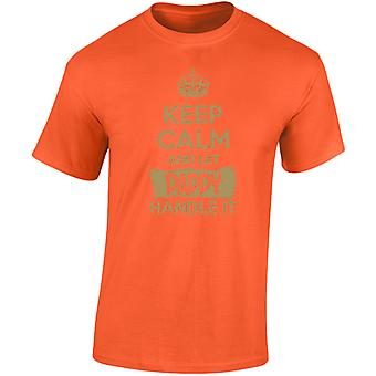 Keep Calm And Let Daddy Handle It Gold Mens T-Shirt 10 Colours (S-3XL) by swagwear