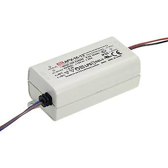 Mean Well APV-16-5 LED transformer Constant voltage 13 W 0 - 2.6 A 5 Vdc not dimmable, Surge protection