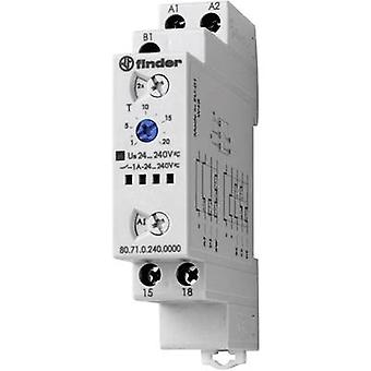 Finder 80.71.0.240.0000 - 1A Multifunction Modular Solid State Timer (SST) SPST-NO 24 - 240 Vdc/ac IP20