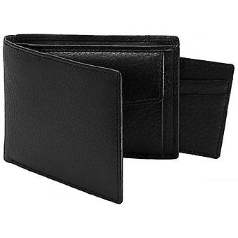 Dents Pebble Grain RFID Removable Card Holder Bifold Wallet - Black