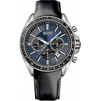 Hugo Boss Mens Watch 'Driver' Black Leather Strap HB1513077