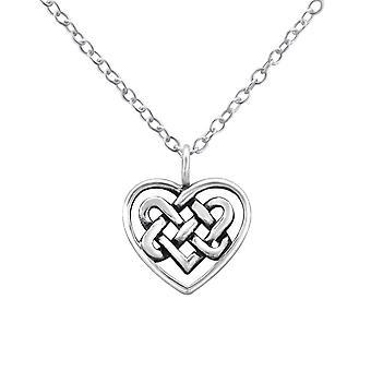 Celtic Heart - 925 Sterling Silver Plain Necklaces - W32421x