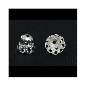 Packet 110+ Silver Metal Alloy Filligree Bead Caps 5 x 6mm Y09785