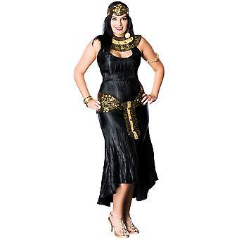Cleopatra Egyptian Queen Black Women Costume Plus Size