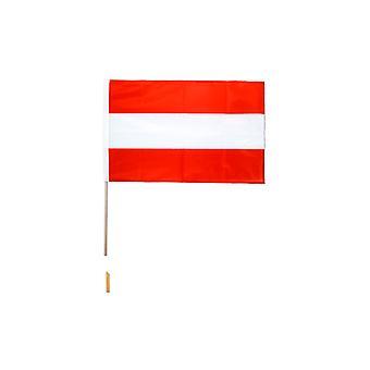 Österreich Hand winkend Flagge