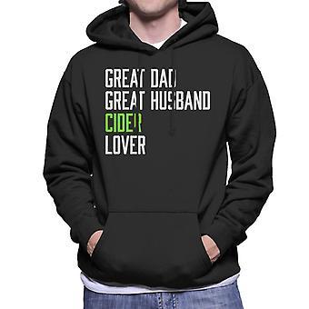 Great Dad Great Husband Cider Lover Men's Hooded Sweatshirt