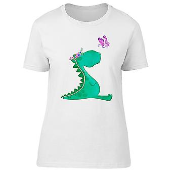 Dinosaur With Butterfly Tee Women's -Image by Shutterstock