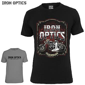 Iron optics T-Shirt logo motorcycle parts